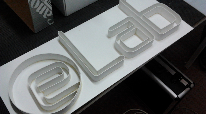eLab Hackerspace Logo made of PVC