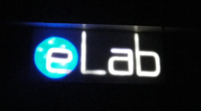 eLab Logo with LEDs