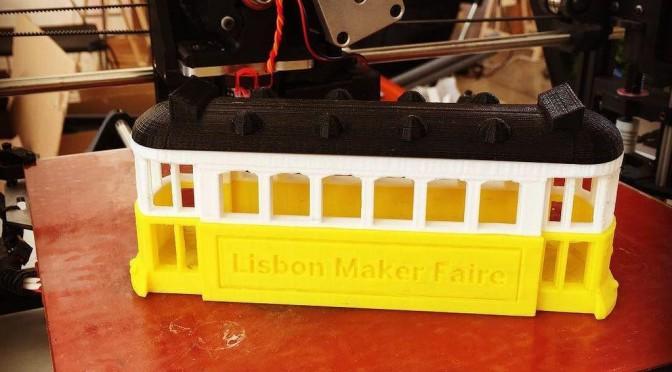 Eléctrico de Lisboa Impresso a 3D